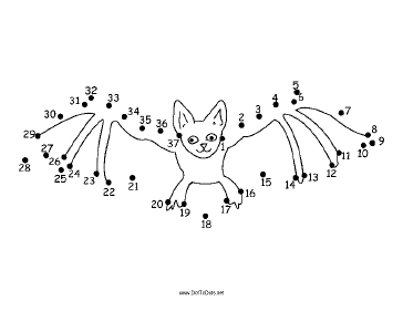 Bat Dot To Dot Puzzle