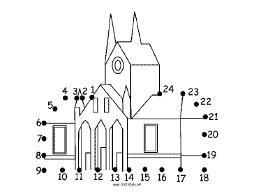Church Dot To Dot Puzzle