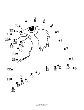 Falcon Dot To Dot Puzzle