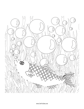 Fish 2 Dot To Dot Puzzle