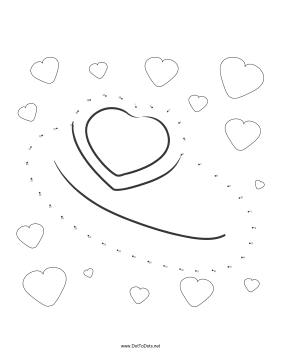 Heart Ring Dot To Dot Puzzle