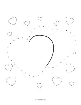 Hearts Dot To Dot Puzzle