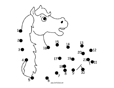 Horse Dot To Dot Puzzle