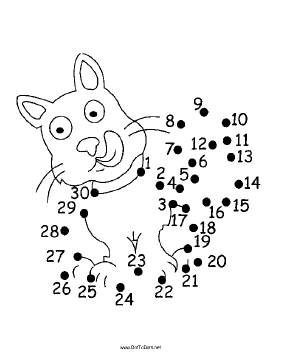 Hungry Cat Dot To Dot Puzzle