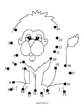 Lion Dot To Dot Puzzle