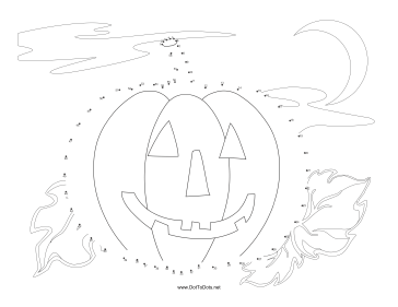 Pumpkin Dot To Dot Puzzle