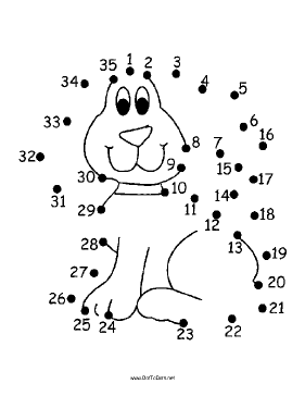Puppy Dog Dot To Dot Puzzle