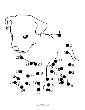 Puppy Dot To Dot Puzzle