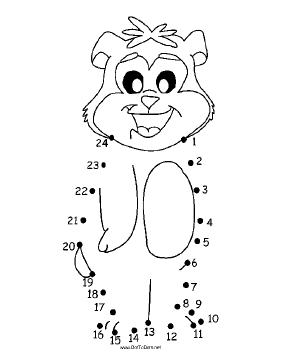 Smiling Bear Dot To Dot Puzzle