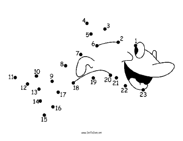 Smiling Shark Dot To Dot Puzzle
