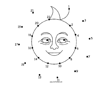 Smiling Sun Dot To Dot Puzzle