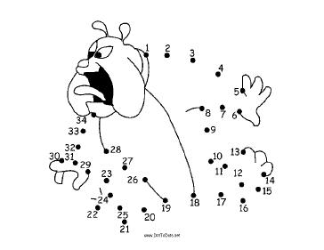 Surprised Dog Dot To Dot Puzzle