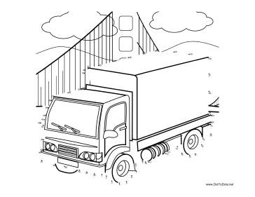 Truck 3 Dot To Dot Puzzle