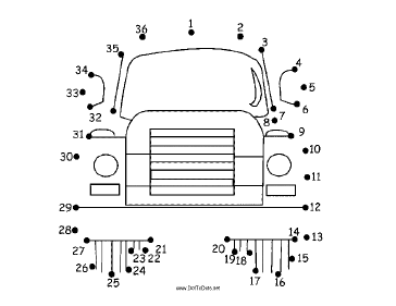 Truck Dot To Dot Puzzle