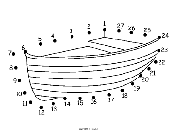 Wooden Boat Dot To Dot Puzzle