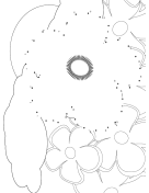 Flower Garden Dot To Dot Puzzle